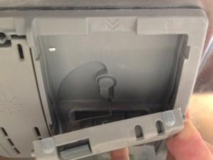 Bosch SHE4AP06UC/06 dispenser door spring groove