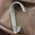 Hook for hanging shopping basket from stroller
