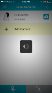 mydlink lite app not able to connect to camera