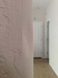 dented bullnose rounded drywall corner