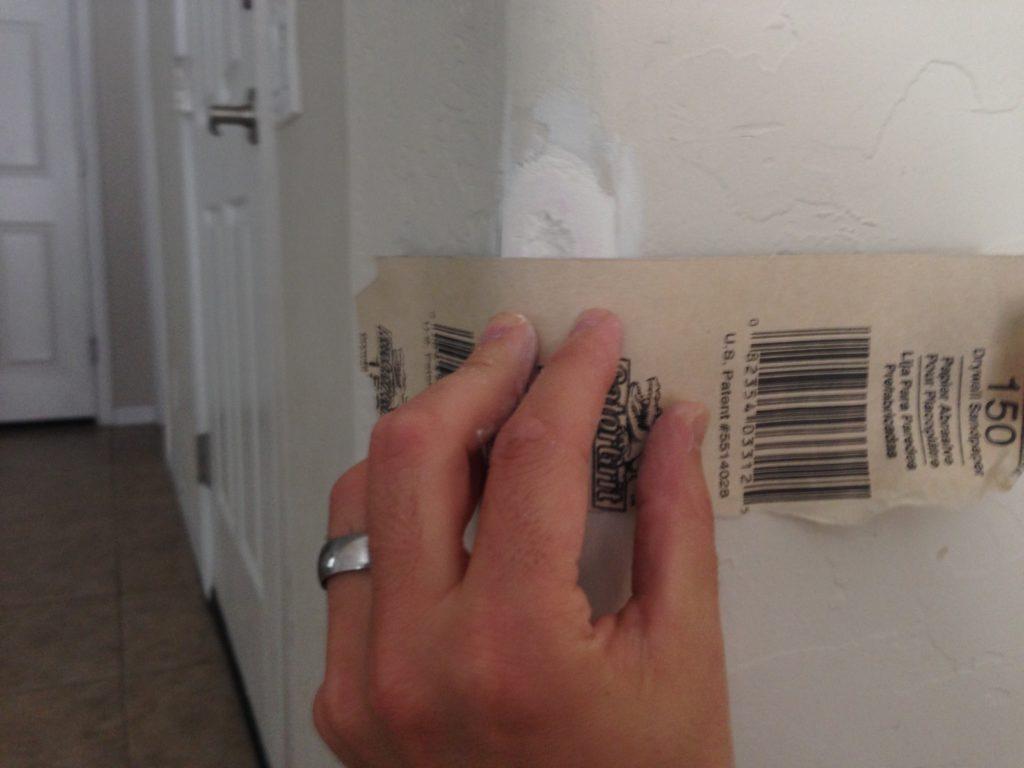 sanding rounded bullnose drywall corner repair