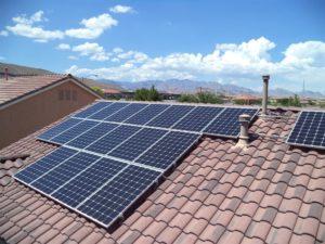 solar panels on a las vegas home