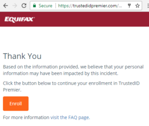 Equifax Personal Sensitive Information Security Breach