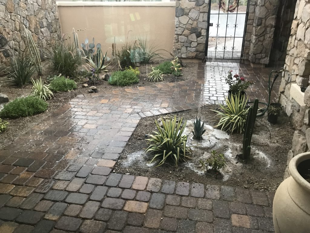 loggia landscaping flooding due to drainage issue