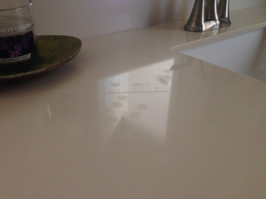 Piedrafina etch spots on countertop