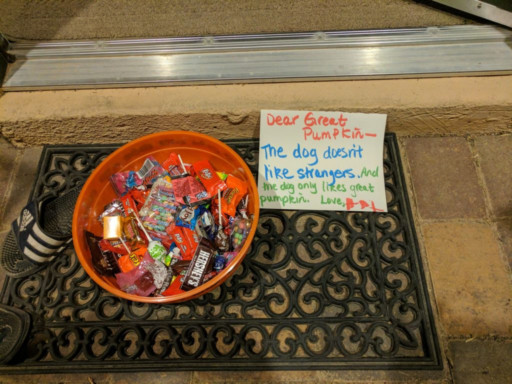 Halloween Candy given up for toys from the Great Pumpkin