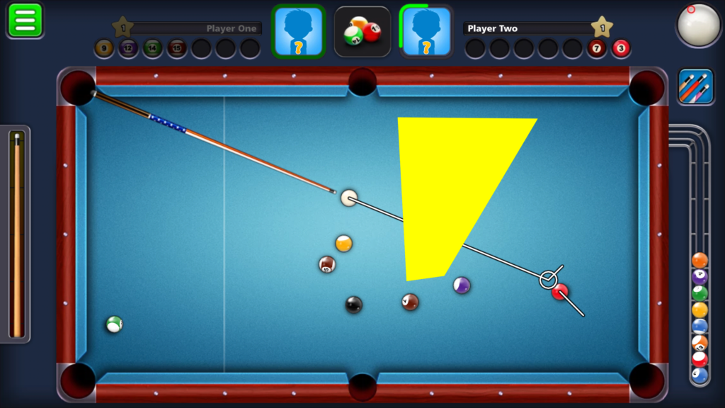 8 Ball Pool - Leave off of a rail using English