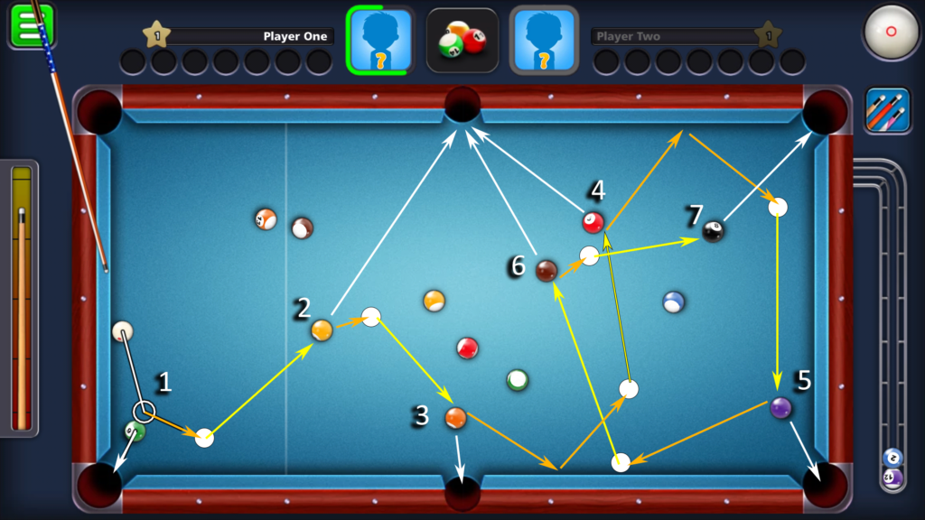 8 Ball Pool Thinking Multiple Shots Ahead