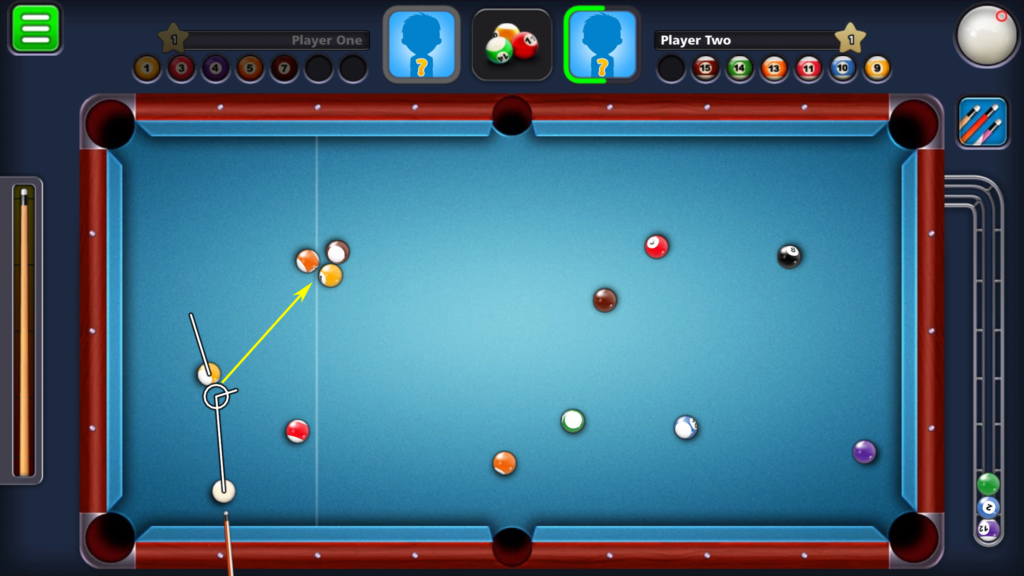 8 Ball Pool - Using ball in hand to break up locked balls