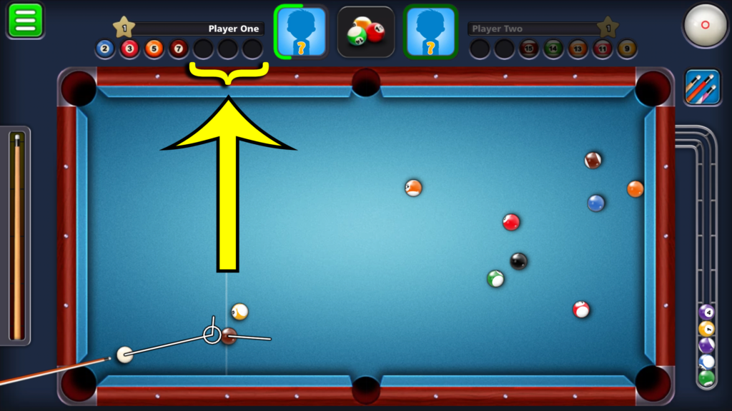 8 Ball Pool by Miniclip - Balls left on table