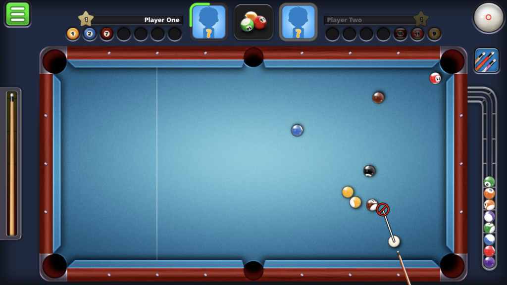 8 Ball Pool by Miniclip - defensive shot
