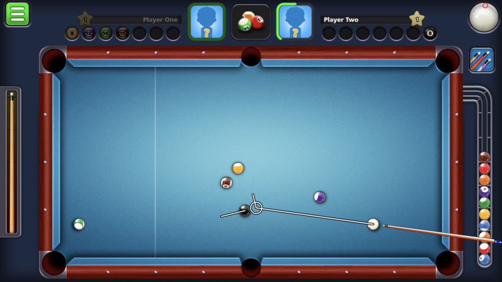 8 Ball Pool by miniclip - english to keep from scratching on the 8 ball