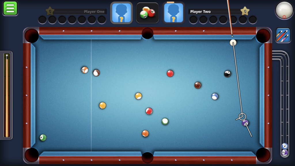 8 ball pool app impossible backspin while on the rail