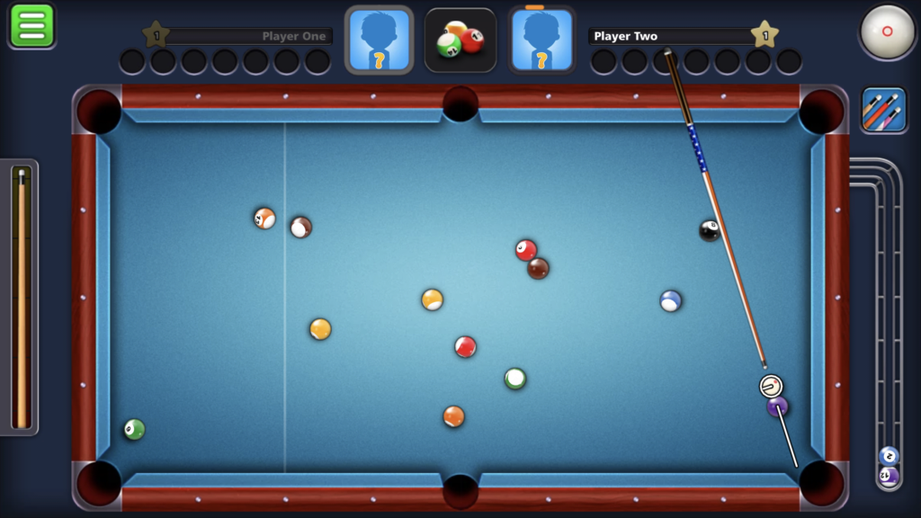Miniclip 8 Ball Pool double kiss example