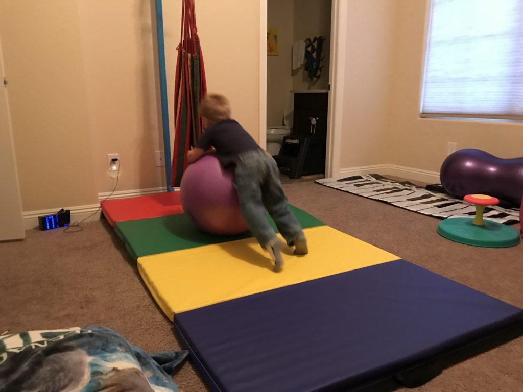 hyperactive boy active room - ball.