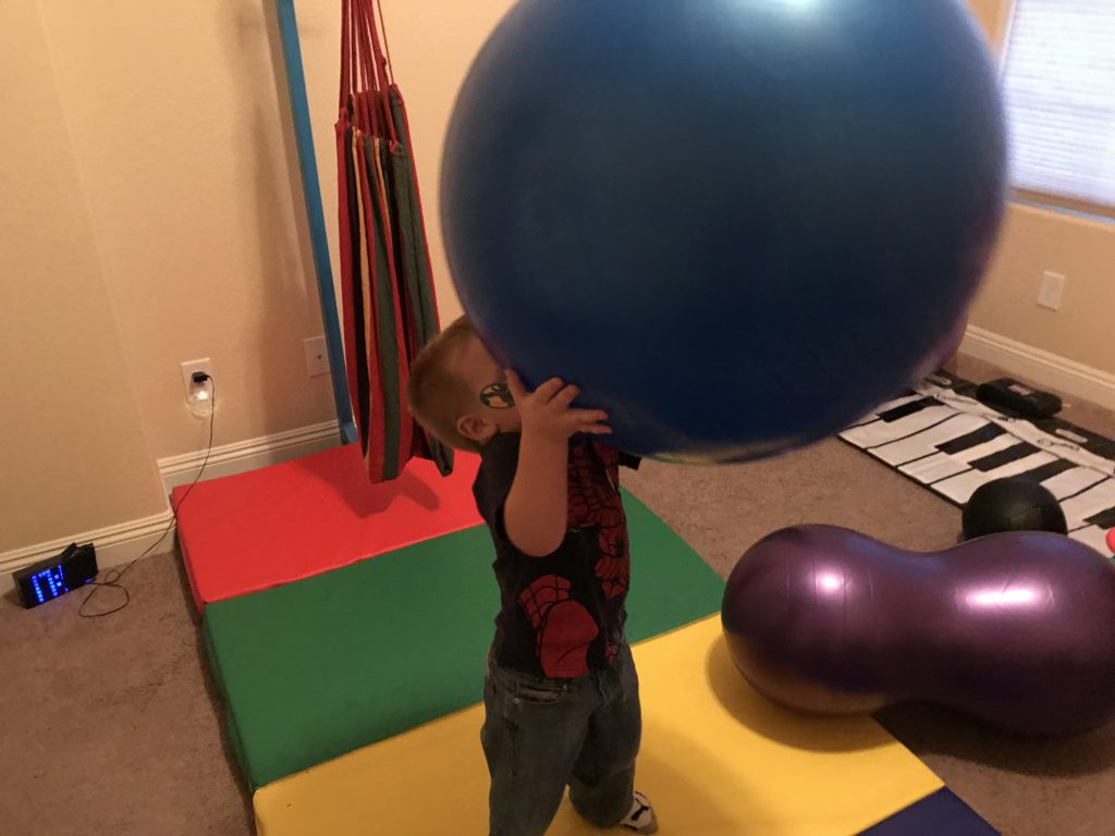 hyperactive boy active room - giant ball