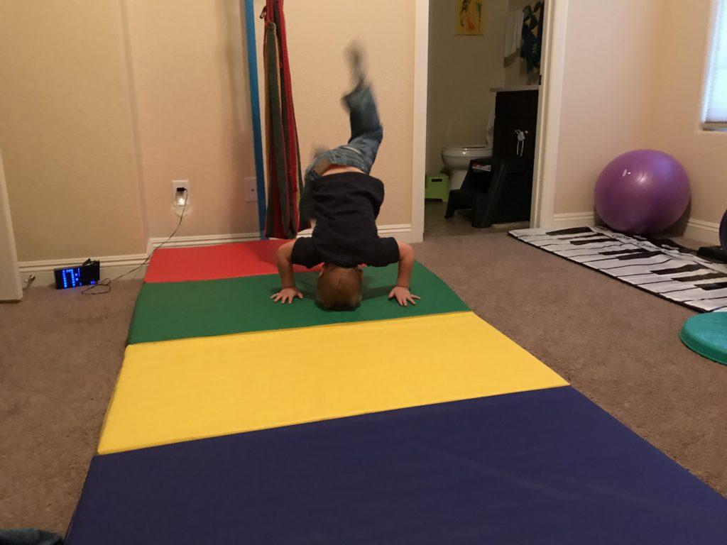 hyperactive boy active room - tumbling