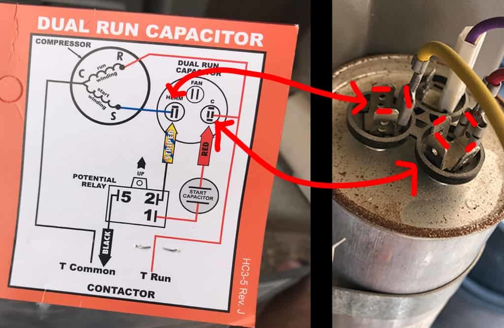 Hard Start Kit Wiring Diagram vs air conditioner run capacitor